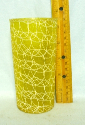 50s Yellow Rubberized Spagetti String Tumbler - Product Image