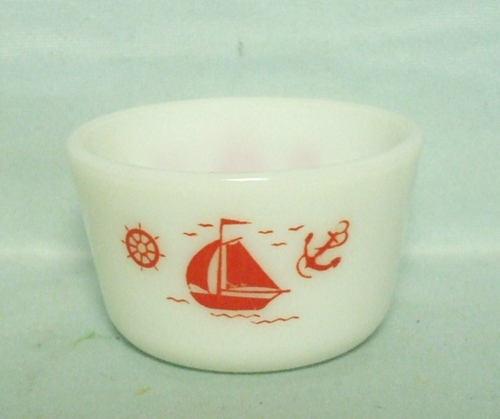 "McKee Red Ships 3 3/8"" Medium Canister no Lid - Product Image"