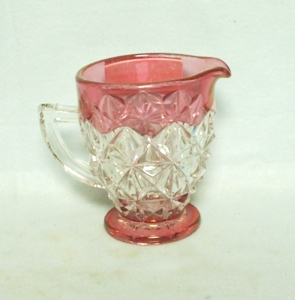 Mount Vernon Ruby Flashed Creamer - Product Image
