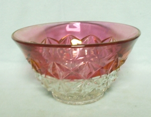 Mount Vernon Ruby Flashed Flared Bowl - Product Image