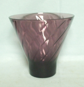 Hazel Atlas Moroccan Amethyst Swirl Tall Candy Dish no Lid - Product Image