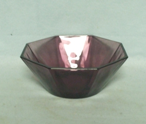 "Hazel Atlas Moroccan Amethyst Swirl 4 3/4"" Fruit Bowl - Product Image"