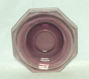 "Hazel Atlas Moroccan Amethyst Swirl 6"" Saucer - Product Image"