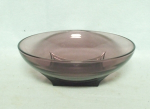 "Hazel Atlas Moroccan Amethyst Swirl 6"" Round Bowl - Product Image"