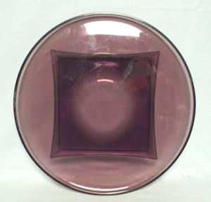 "Hazel Atlas Moroccan Amethyst Swirl 12"" Round Plate - Product Image"