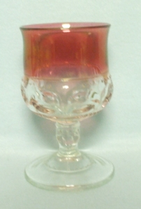 "Ruby Flashed Kings Crown 4 1/4"" Wine Goblet - Product Image"