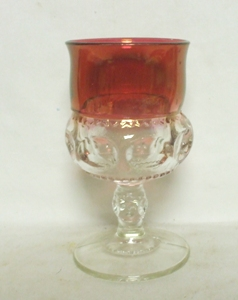 "Ruby Flashed Kings Crown 5 1/2"" Water Goblet - Product Image"