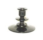 "Black Amythest Footed 4"" Large Candle Holder - Product Image"