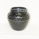 "Black Amythest 4"" Hobnail Bowl - Product Image"