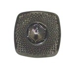 "Black Amythest 5"" Square Diamond Point Saucer - Product Image"