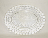 "Crystal Bubble Glass 12"" Oval Serving Platter - Product Image"