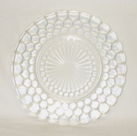 "Crystal Bubble Glass 9 3/8"" Dinner Plate - Product Image"