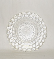 "Crystal Bubble Glass 6 3/4"" Bread Plate - Product Image"