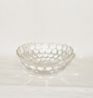 "Crystal Bubble Glass 4""Berry Bowl - Product Image"