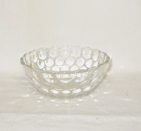 "Crystal Bubble Glass 4 1/2""Fruit Bowl - Product Image"