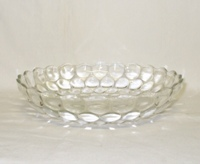 "Crystal Bubble Glass 8 1/2""Low Serving Bowl - Product Image"
