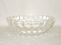 "Crystal Bubble Glass 8 3/8"" Large Berry Bowl - Product Image"