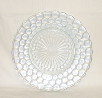 "Sapphire Blue Bubble Glass 9 3/8"" Dinner Plate - Product Image"