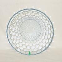 "Sapphire Blue Bubble Glass 8"" Serving Bowl - Product Image"