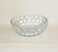 """Sapphire Blue Bubble Glass 4 1/2"""" Fruit Bowl - Product Image"""