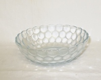 "Sapphire Blue Bubble Glass 5 1/4"" Cereal Bowl - Product Image"