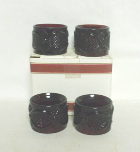 Avon 1876 Cape Cod Rare Napkin Holders (4) MIB - Product Image