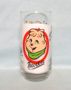 "Chipmunks &quotTheodore"" 1985 Collector Glass - Product Image"