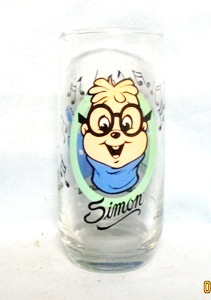 "Chipmunks ""Simon"" 1985 Collector Glass - Product Image"