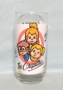 Chipmunks Rare Chippettes 1985 Collector Glass - Product Image