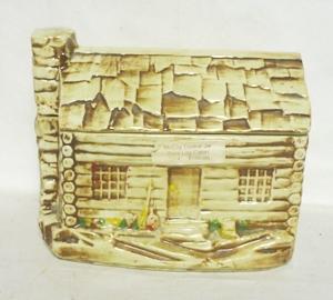 Vintage Rare McCoy Log Cabin Cookie Jar - Product Image