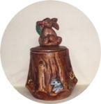 Calfornia Originals Rabbit on Stump Cookie Jar - Product Image