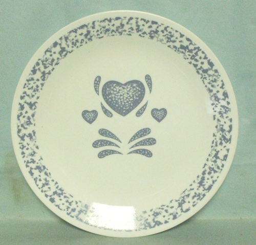 "Corelle Blue Hearts 10 1/4"" Dinner Plate - Product Image"