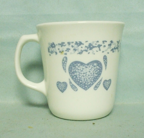 Corelle Blue Hearts Handled Coffee Mug - Product Image