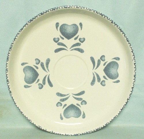 Corelle Blue Hearts Coordinates Centerpiece Plate - Product Image