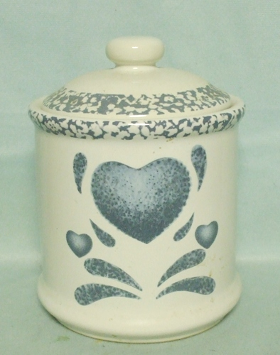 Corelle Blue Hearts Coordinates Medium Canister - Product Image