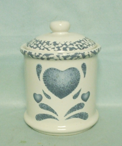 Corelle Blue Hearts Coordinates Small Canister - Product Image