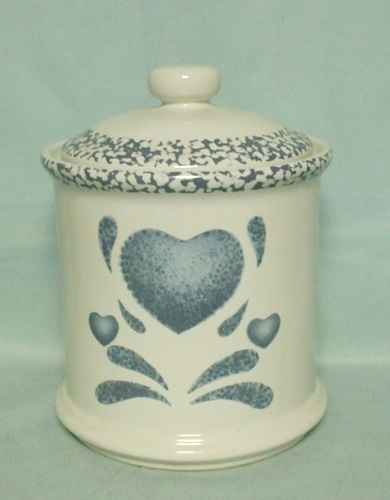 Corelle Blue Hearts Coordinates Tiny Canister - Product Image