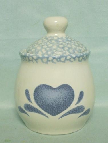 Corelle Blue Hearts Coordinates Sugar & Lid - Product Image