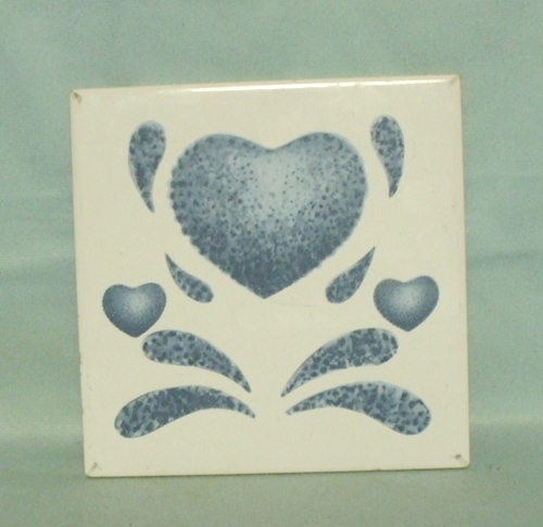 Corelle Blue Hearts Coordinates Trivet no Frame - Product Image