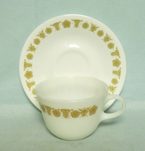 Corelle Butterfly Gold  Cup & Saucer Set - Product Image