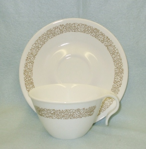 Corelle Woodland Brown Cup & Saucer Set - Product Image