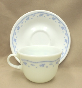 Corelle Morning Blue Cup & Saucer Set - Product Image
