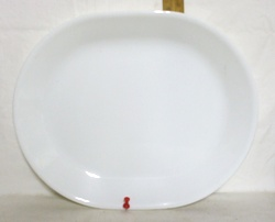 """Corelle Winter Frost 9"""" by 12 1/2"""" Serving Platter - Product Image"""
