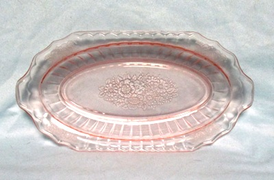 "Mayfair Pink 11 1/4"" Low Celery Dish - Product Image"