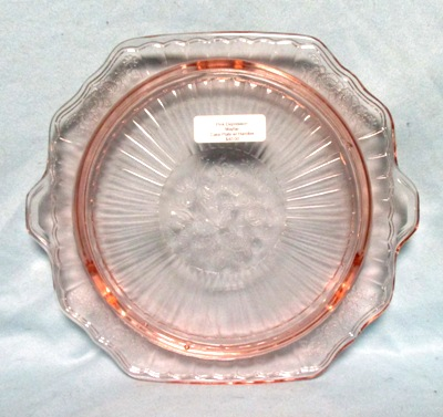 """Mayfair Pink 10"""" Footed Cake Plate - Product Image"""