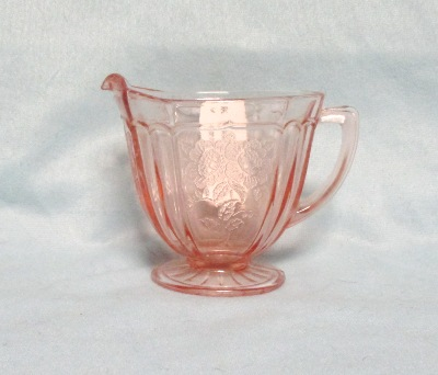 Mayfair Pink Footed Cream Pitcher - Product Image