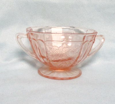 Mayfair Pink Footed Sugar Bowl - Product Image