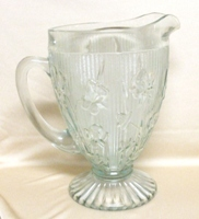 "Bead & Block Clear Depression 5 1/4"" Pitcher - Product Image"