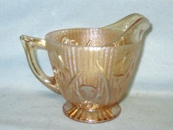 Iris & Herringbone Iridescent Footed Creamer - Product Image
