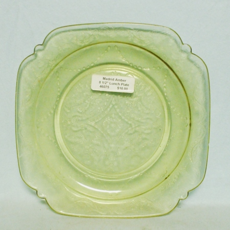 "Madrid Amber 8 1/2"" Lunch Plate - Product Image"
